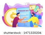 promise to pay. money borrowing ...   Shutterstock .eps vector #1471320206