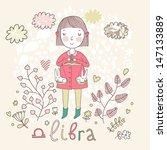 cute zodiac sign   libra....   Shutterstock .eps vector #147133889