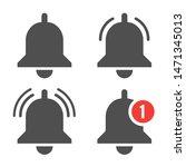 message bell icon. doorbell... | Shutterstock .eps vector #1471345013