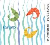 shrimp fresh seafood. vector...   Shutterstock .eps vector #1471351409