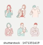 people are looking at their... | Shutterstock .eps vector #1471351619