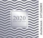 2020 happy new year luxury card ... | Shutterstock .eps vector #1471362803