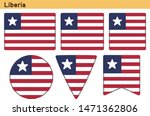 flag of liberia. flag icon set... | Shutterstock .eps vector #1471362806