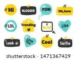hashtag social banners. trendy...   Shutterstock .eps vector #1471367429