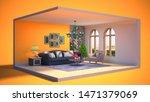 interior of the living room in...   Shutterstock . vector #1471379069