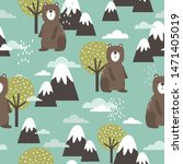 seamless pattern  bears ... | Shutterstock .eps vector #1471405019