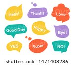 color speech bubbles with text. ... | Shutterstock .eps vector #1471408286
