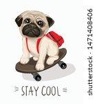 typography slogan and hand... | Shutterstock .eps vector #1471408406