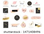 logo watercolor background... | Shutterstock .eps vector #1471408496