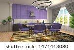 interior dining area. 3d... | Shutterstock . vector #1471413080