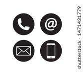 contact icon vector...   Shutterstock .eps vector #1471431779