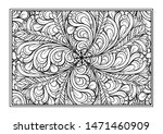 black and white decorative... | Shutterstock .eps vector #1471460909