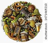 cartoon doodles beer fest... | Shutterstock . vector #1471469210