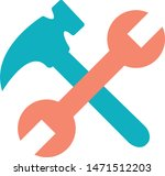 wrench hammer tool repair icon | Shutterstock .eps vector #1471512203