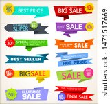 modern collection of stickers...   Shutterstock . vector #1471517669