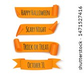collection orange ribbon for... | Shutterstock .eps vector #1471527416
