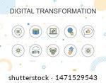 digital transformation trendy... | Shutterstock .eps vector #1471529543