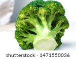 Green broccoli on white isolate ...