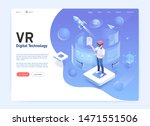 virtual reality glasses digital ... | Shutterstock .eps vector #1471551506