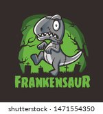 Halloween Dinosaurs Zombie...