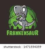 halloween dinosaurs zombie...   Shutterstock .eps vector #1471554359