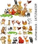 many animals on white...   Shutterstock .eps vector #1471566539