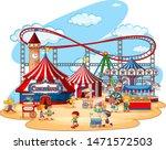 fun fair theme park on isolated ... | Shutterstock .eps vector #1471572503