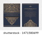 dark blue and gold luxury...   Shutterstock .eps vector #1471580699