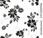 abstract flower seamless... | Shutterstock . vector #1471600946