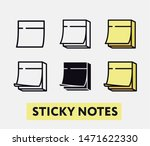 yellow office sticky notes.... | Shutterstock .eps vector #1471622330