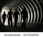 silhouette of workers in mine | Shutterstock . vector #147162443