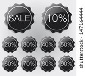 discount labesl black theme | Shutterstock .eps vector #147164444