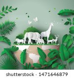 world wildlife day with the... | Shutterstock .eps vector #1471646879