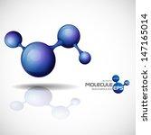 3d molecule background. vector... | Shutterstock .eps vector #147165014