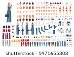female office assistant diy set ... | Shutterstock .eps vector #1471655303