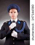 Elegant Soldier Wearing Unifor...