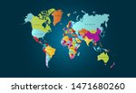 color world map vector modern | Shutterstock .eps vector #1471680260