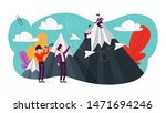 achievement and success concept....   Shutterstock . vector #1471694246