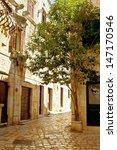 small old street. hvar. croatia.... | Shutterstock . vector #147170546
