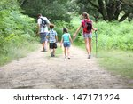 back view of family on a... | Shutterstock . vector #147171224