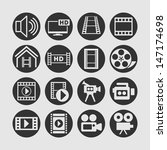 video icon set | Shutterstock .eps vector #147174698