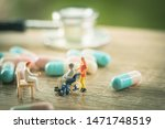 miniature people  senior couple ... | Shutterstock . vector #1471748519