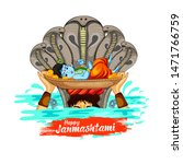 illustration of lord krishna in ... | Shutterstock .eps vector #1471766759