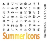 summer icons. vector...