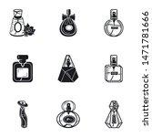 glamour perfume icon set.... | Shutterstock .eps vector #1471781666