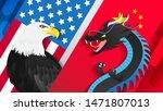 eagle vs dragon vector... | Shutterstock .eps vector #1471807013