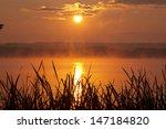 A Beautiful Sunset At Lake