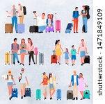 traveling group family couple ... | Shutterstock .eps vector #1471849109