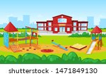 playground with carousel and... | Shutterstock .eps vector #1471849130