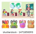 children sitting on geography...